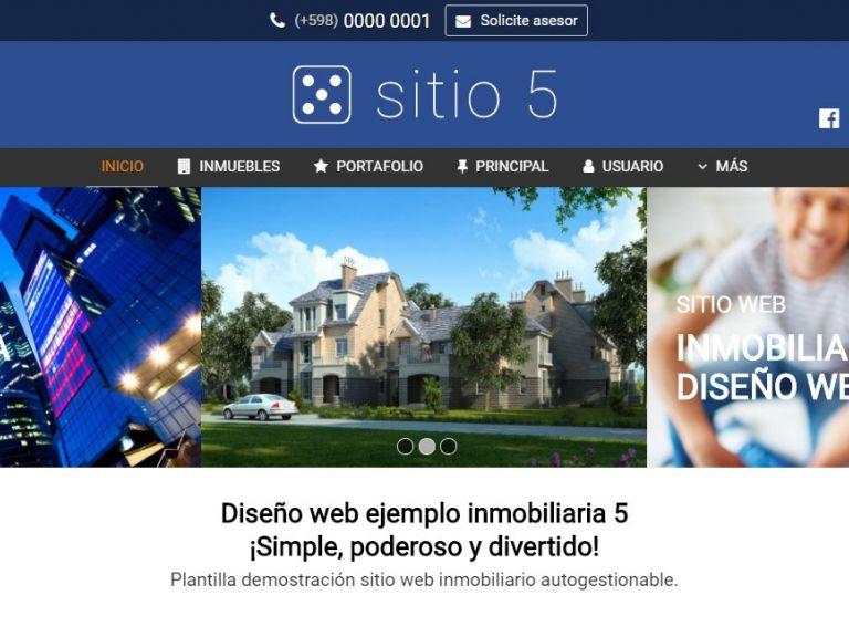 Opción de diseño de sitio inmobiliario. Diseño profesional para resultados superiores. - DEMO 5 . Sitio web inmobiliario