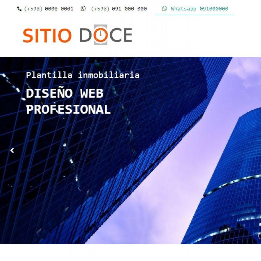 Demo template profesional para implementación de inmobiliaria.