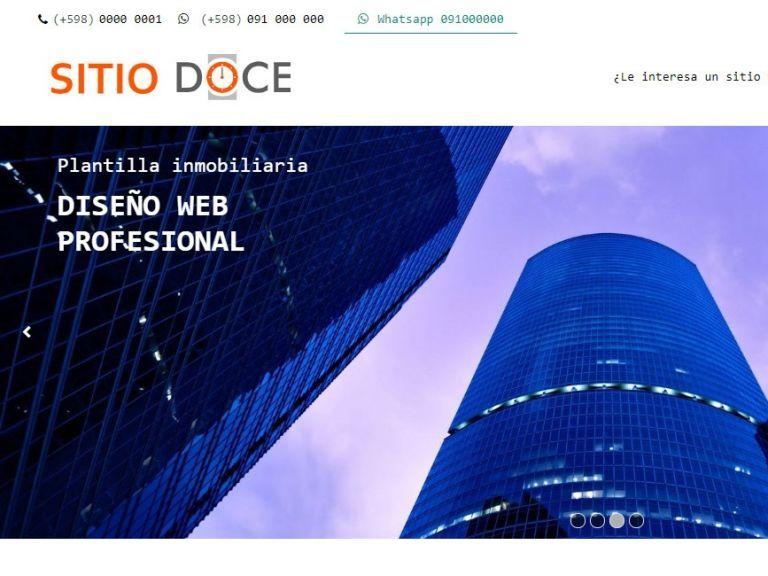 Demo template profesional para implementación de inmobiliaria. - DEMO 12 . inmobiliaria online